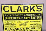 Clark`s Compositions Pictorial Enamel Sign