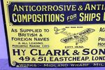 Clarkes Compositions Pictorial Enamel Sign