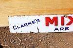 Clarkes Mixed Marvels Dog Food Enamel Sign