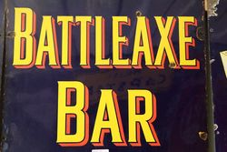 Classic Battle Axe Tobacco Enamel Sign