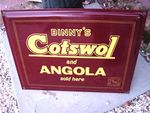 Classic Binnys Cotswol + Angola Sold Here Enamel Sign