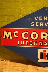 Classic Large McCormick Lozenges Shape Enamel Service Sign