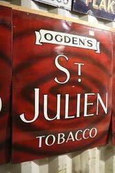 Classic Ogdens St Julien  enamel sign