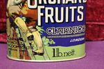 Classic Orchid Fruits Pictorial Tin