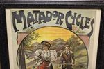 Classic Original Framed Matador Cycles Advertising  Print