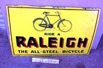 Classic Raleigh Bikes  Pictorial Enamel Sign