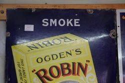Classic Smoke Ogdens Robin  Enamel Sign