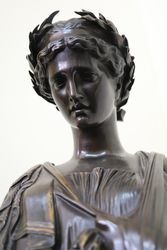 Classical Bronze of Sappho the Tenth Muse C1850 60