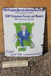 Classifieds 500 Positions Vacant Enamel Sign