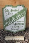 Cleaner And Dyer Enamel Sign