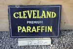 Cleveland Paraffin Oil Double Sided Enamel Sign