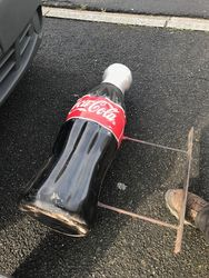 CocaCola 3D Post Mount Advertising Bottle