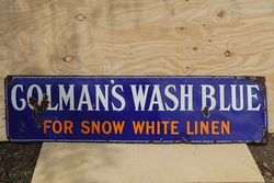 Colmanand39s Wash Blue Enamel Advertising Sign