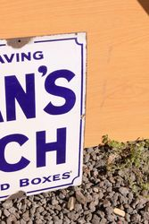 Colmans Starch Enamel Advertising Sign
