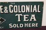 Colonial Tea Post Mount Enemael Sign