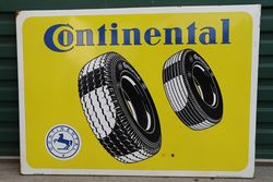 Continental Enamel Advertising Sign