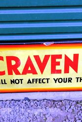 Craven A Enamel Advertising Sign