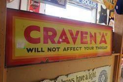 Craven A Strip Enamel Sign