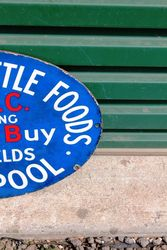 Crossfields ABC Enamel Advertising Sign