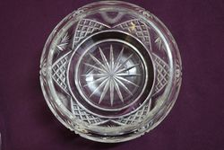 Cut Glass Bowl + Cover