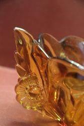 Deco Amber Glass Float Bowl C1930