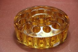 Deco Amber Glass Float Bowl C1930