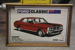 Decorative Mirror + Thermometer Ford Classic GTHO Phase 3