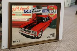 Decorative Mirror  Ford Classic GTHO Phase 3  andquotShakerandquot