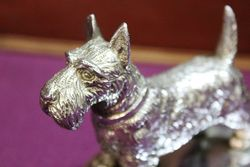 Desmo Vintage Scotch Terrier Dog Car Mascot