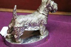 Desmo Vintage Scotch Terrier Dog Car Mascot