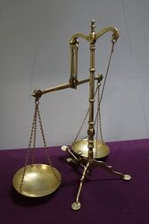 Doyle and Son Victorian Brass balance scale