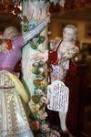 Dresden Porcelain  Figural Table Lamp