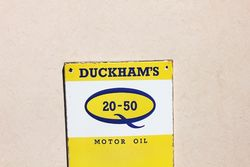 Duckhams Enamel Advertising Thermometer Sign