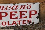 Duncans Bo Peep Chocolate Enamel Sign