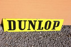 Dunlop Double Sided Enamel Sign