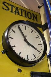 Dunlop Stock Double Sided Clock Enamel Sign