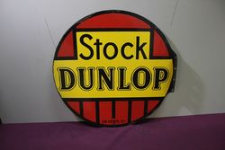 Dunlop Stock Double Sided Enamel Sign