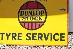Dunlop Stock Enamel Advertising Sign