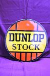 Dunlop Stock Round Double Sided Enamel Sign
