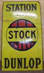 Dunlop Stock Station Double Sided Enamel Sign
