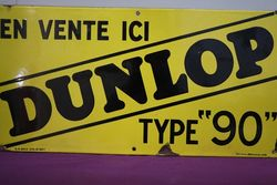 Dunlop Tyre Enamel Advertising Sign