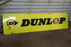 Dunlop Tyre Enamel Advertising Sign