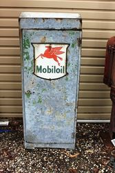 Early + Original Mobiloil Oil Drum Cabinet