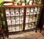 Early 20th Century 2 Door Display Cabinet English C1920