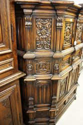 Early 20th Century 6 Door 2 Drawer Carved Court Cupboard