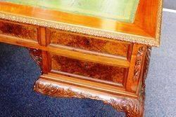 Early 20th Century Burr Walnut 5 Drawer Desk C1920