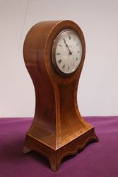 Early 20th Century Inlaid Mahogany Mantle Clock 8 Day