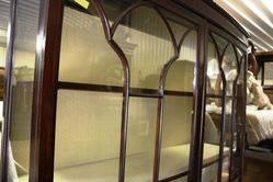 Early 20th Century Mahogany 2door Display Cabinet