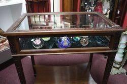 Early 20th Century Mahogany Bijouterie Cabinet