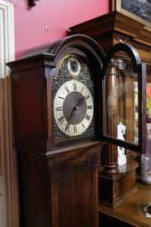 Early 20th Century Oak Long Case Clock With a Multi Chim 8 Days 14 hour Moveme